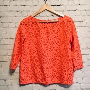 Coral lace 3/4 sleeve